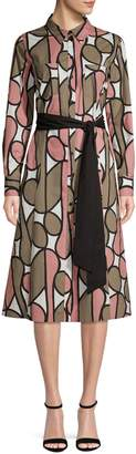 Diane von Furstenberg Printed Long-Sleeve Shirtdress