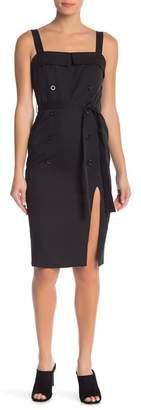 FAVLUX Side Slit Button Dress