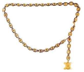 Celine Logo Chain-Link Belt