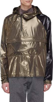 SIKI IM CROSS Packable hooded colourblock windbreaker jacket
