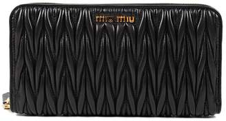 Miu Miu Quilted Zip Around Wallet