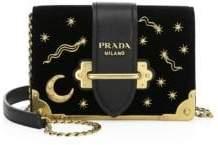 Prada Cahier Moon& Stars Velvet Crossbody Bag