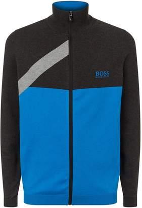 HUGO BOSS Knitted Zip Up Sweater