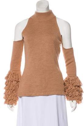 Jonathan Simkhai Cold-Shoulder Wool Top w/ Tags