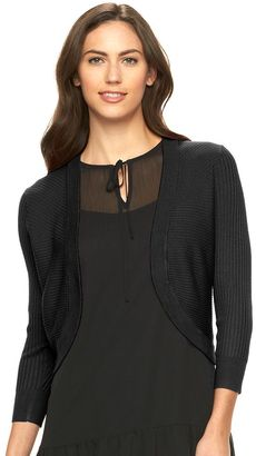 Women's Apt. 9® Solid Ribbed Shrug $40 thestylecure.com