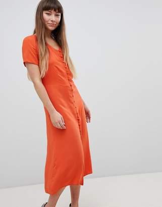 7a2fb8d7ea at ASOS · New Look Button Front Midi Tea Dress