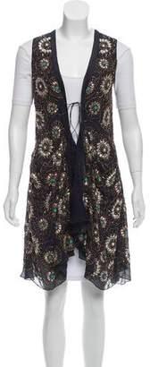 Megan Park Embellished Silk Vest