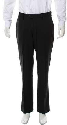 Versace Flat-Front Wool Dress Pant