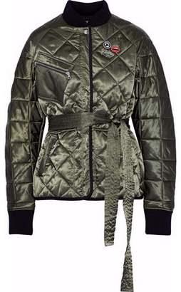 Markus Lupfer Liberty Belted Embellished Quilted Satin Jacket