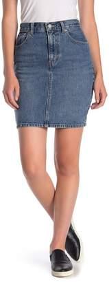 Levi's Mom Bow Hem Denim Skirt