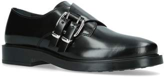 Tod's Leather Double Buckle Monk Shoes