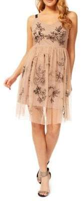 Dex Embroidered Fit--Flare Dress