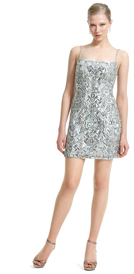 Theia Short Mirrored Dress