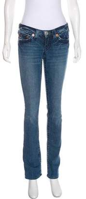 True Religion Low-Rise Straight-Leg Jeans