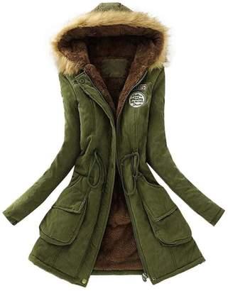 Gillberry Women's Jacket Warm Long Coat Hooded Slim Winter Outwear Tops for Women (L, )