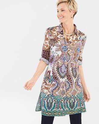 Chico's Chicos Paisley Patch Shirt