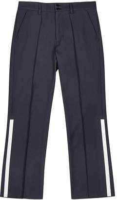 Navy Taped Twill Trousers