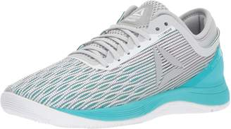Reebok Women's Crossfit Nano 8.0 Cross Trainers, White/Grey/ Teal