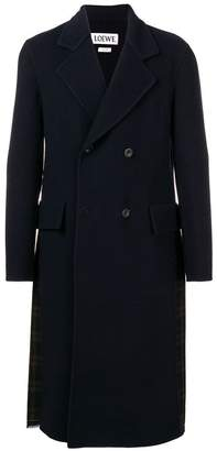 Loewe double breasted pleated back coat