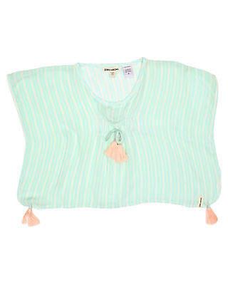 Billabong Girls Toddler Girls Sundaze Coverup Short Sleeve Pu Rayon Green