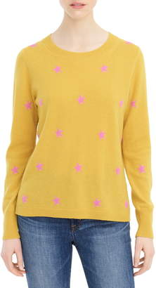 J.Crew Star Long Sleeve Everyday Cashmere Crewneck Sweater