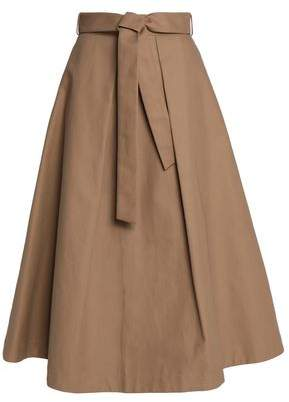 Co Belted Pleated Cotton Midi Skirt