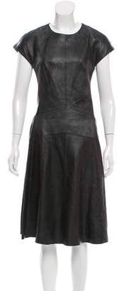 Narciso Rodriguez Leather A-Line Dress