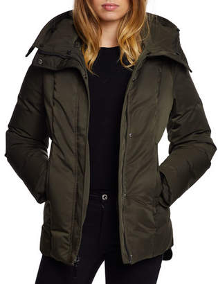 Dawn Levy Luka Fitted Waterproof Parka Coat with Fox Fur Trim