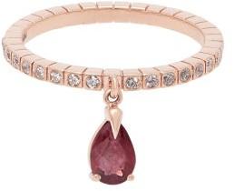 Diane Kordas Spectrum 18kt Rose Gold Diamond & Ruby Ring - Womens - Red