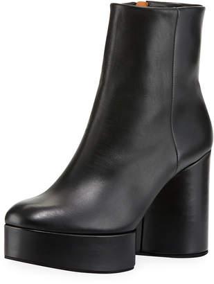 Robert Clergerie Belent Leather Platform Booties