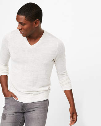 Express Linen Blend V-Neck Sweater