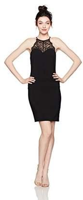 Jump Women's Crepe Slim Midi Dress with Metallic Lace Trim