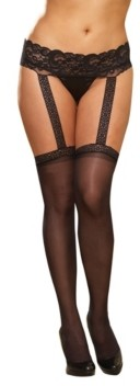 Dreamgirl Plus Size Sheer Suspender Pantyhose