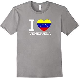 I Love VENEZUELA Flag Heart T shirt for Venezuela Lovers