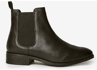 Dorothy Perkins Womens Black 'Axel' Leather Chelsea Boots