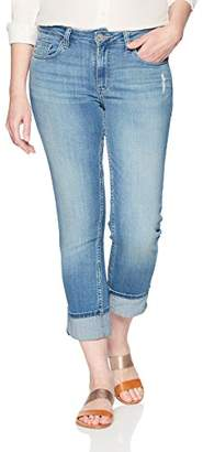Lee Indigo Women's Modern Collection Roll Cuff Straight Leg Denim Cropped Jean