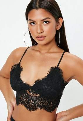 Missguided Black Corded Lace Bralette