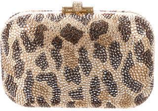 Judith Leiber Leopard Minaudière w/ Tags $995 thestylecure.com