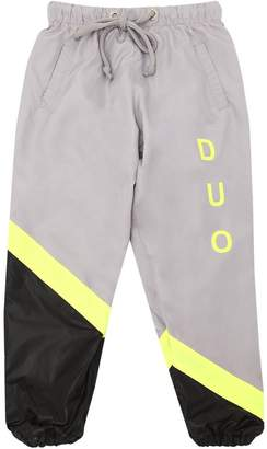 Duo Logo Printed Nylon Track Pants
