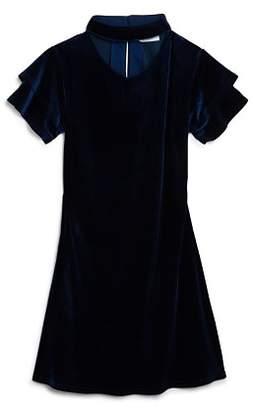 Us Angels Girls' Velvet Choker Dress - Big Kid
