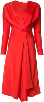 Victoria Beckham v-neck flared dress
