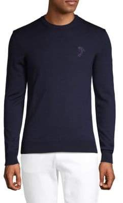 Versace Long-Sleeve Wool Sweater