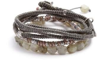 M. Cohen Set of three labradorite and silver bracelets