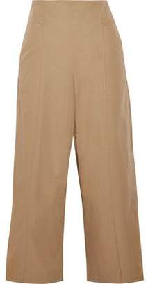 A.L.C. Marley Cropped Cotton-Blend Poplin Wide-Leg Pants