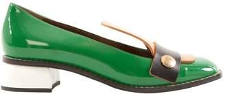 Marni Green Patent leather Flats