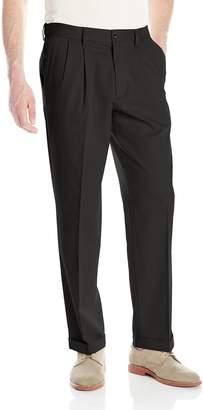 Dockers Comfort Stretch Khaki Classic-Fit Pleated Pant, Black Metal/Stretch, 44x30