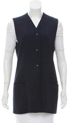 Michael Kors Wool Button-Up Vest