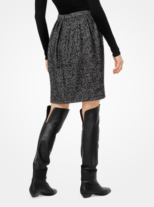 Michael Kors Herringbone Wool Tulip Skirt