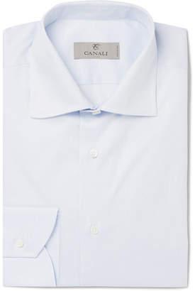 Canali Light-Blue Striped Cotton Shirt