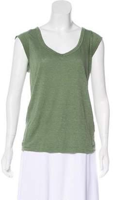 Etoile Isabel Marant Linen Jersey Sleeveless Top